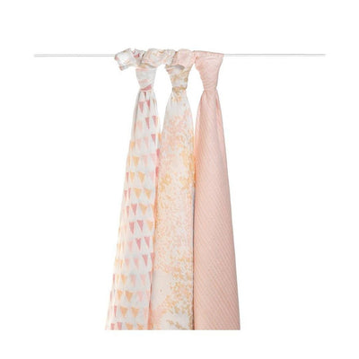 Aden and Anais - Bamboo Silky Soft Swaddles - Metallic Primrose Birch 3Pack