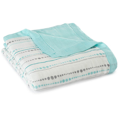 Aden and Anais - Dream Blankets Bamboo Azure - Baby Blankets - Aden and Anais - Afterpay - Zippay Carry Them Close