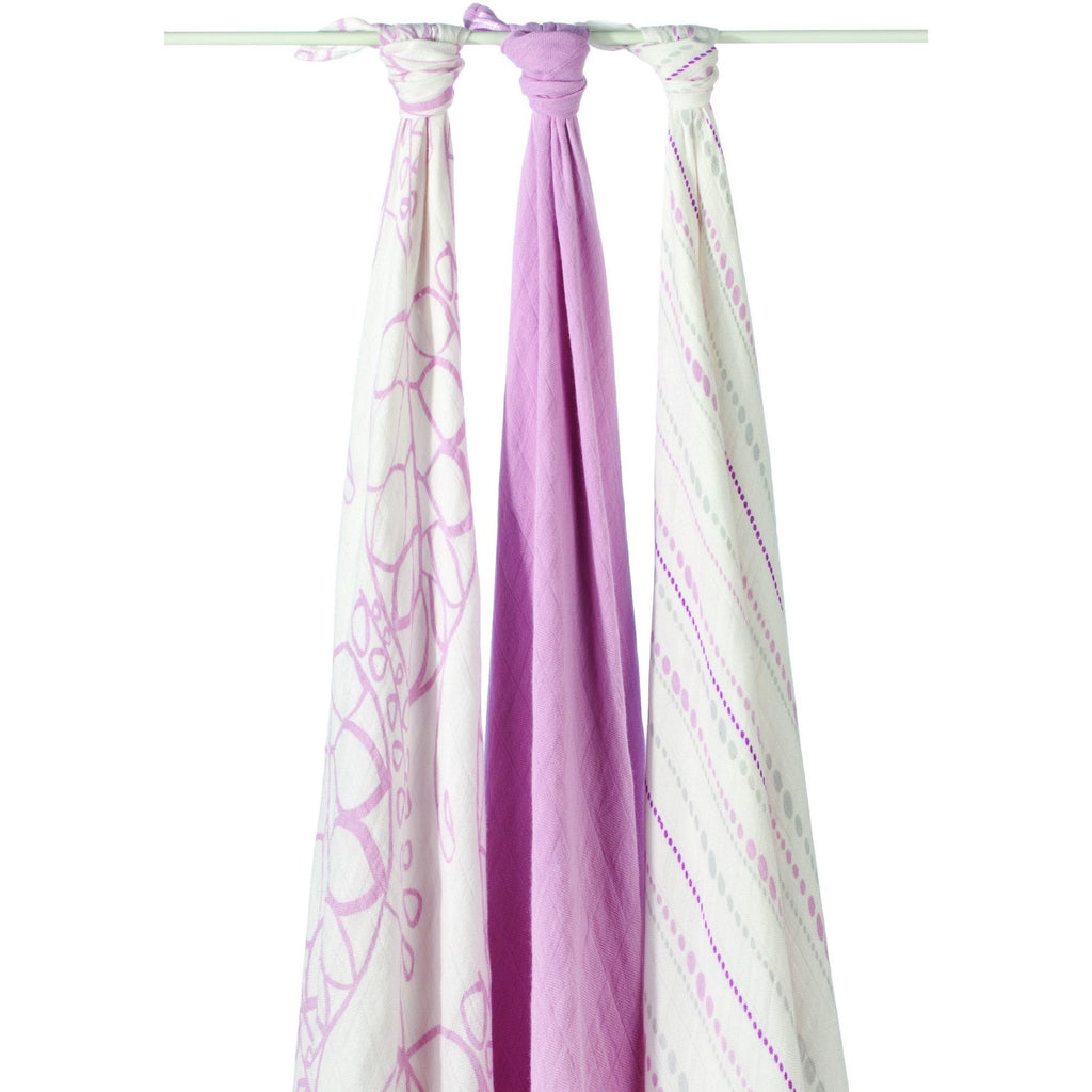 Aden and Anais - Bamboo swaddle (tranquility pink 3 Pack) - swaddle - Aden and Anais - Carry Them Close