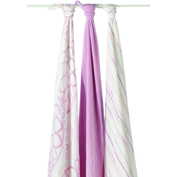 Aden and Anais - Bamboo swaddle (tranquility pink 3 Pack), , swaddle, Aden and Anais, Carry Them Close  - 1