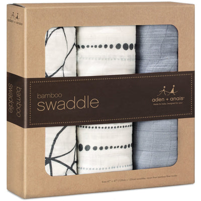 Aden and Anais - Bamboo swaddles (moonlight grey 3 Pack) - swaddle - Aden and Anais - Afterpay - Zippay Carry Them Close