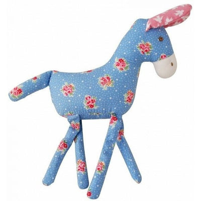 Alimrose - Donkey Toy Rattle - Blue Floral - Toys - Alimrose - Afterpay - Zippay Carry Them Close