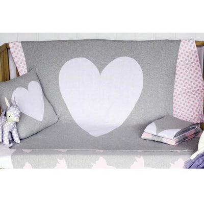 Alimrose Knit Cot Blanket - Heart - Baby Blankets - Alimrose - Afterpay - Zippay Carry Them Close