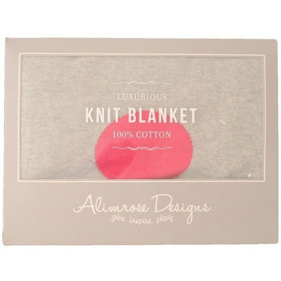 Alimrose Kint Cot Blanket - Polka Dot Grey & Pink - Baby Blankets - Alimrose - Afterpay - Zippay Carry Them Close