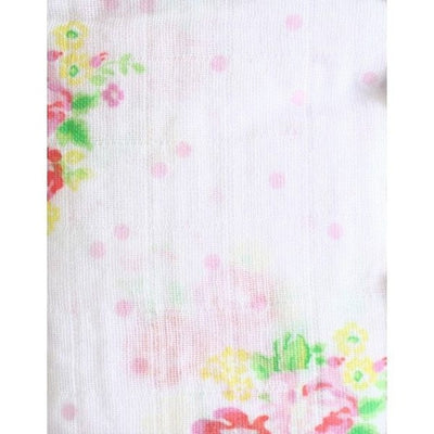 Alimrose Muslin Swaddle - Rose Floral Spots - Swaddle - Alimrose - Afterpay - Zippay Carry Them Close