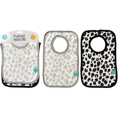 All4Ella Bibs Pull over Head (Set 2) - Leopard Black - Clothing - All4Ella - Afterpay - Zippay Carry Them Close