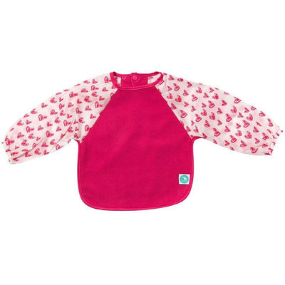 All4Ella Bibs Long Sleeve (Set 2) - Pink Hearts - Clothing - All4Ella - Afterpay - Zippay Carry Them Close