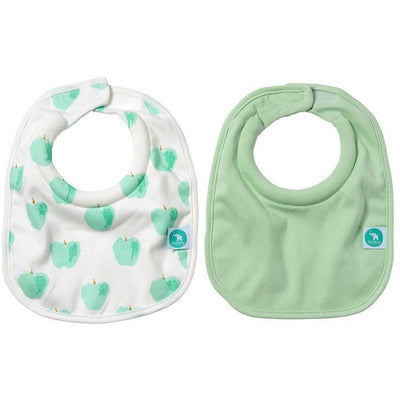 All4Ella Bibs Roll Neck (Set 2) - Apple - Clothing - All4Ella - Afterpay - Zippay Carry Them Close