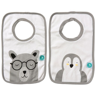 All4Ella Bibs Pull over Head (Set 2) - Penguin - Clothing - All4Ella - Afterpay - Zippay Carry Them Close