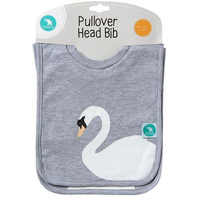 All4Ella Bibs Pull over Head (Set 2) - Swan - Clothing - All4Ella - Afterpay - Zippay Carry Them Close