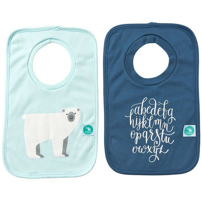 All4Ella Bibs Pull over Head (Set 2) - Alphabet Blue - Clothing - All4Ella - Afterpay - Zippay Carry Them Close