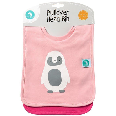 All4Ella Bibs Pull over Head (Set 2) - Alphabet Pink - Clothing - All4Ella - Afterpay - Zippay Carry Them Close