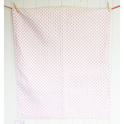 Alimrose Reversible Cot Blanket Quilt - Audrey Pink Polka - Baby Blankets - Alimrose - Afterpay - Zippay Carry Them Close