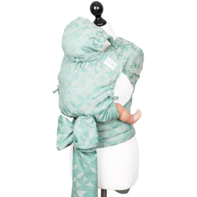 Fidella Fly Tai - MeiTai babycarrier Kaleidoscope Mint (Baby Size - From Birth) Limited Edition - Meh Dai - Fidella - Afterpay - Zippay Carry Them Close