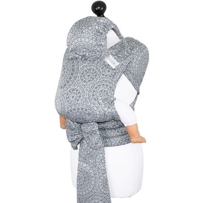 Fidella Fly Tai - MeiTai babycarrier Limited Edition Mosaic Stone Grey (Baby Size - From Birth), , Mei Tai, Fidella, Carry Them Close  - 6