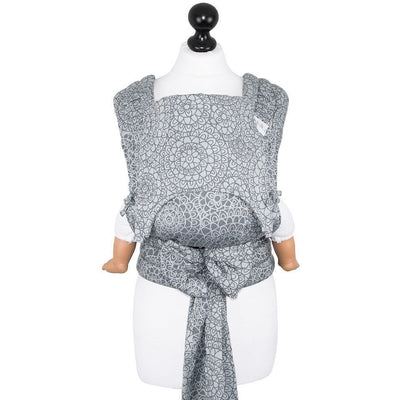 Fidella Fly Tai - MeiTai babycarrier Limited Edition Mosaic Stone Grey (Baby Size - From Birth), , Mei Tai, Fidella, Carry Them Close  - 4