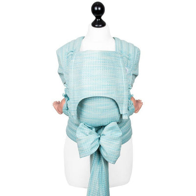 Fidella Fly Tai - MeiTai babycarrier Limited Edition - Heart Rows (Baby - Newborn +), , Mei Tai, Fidella, Carry Them Close  - 5