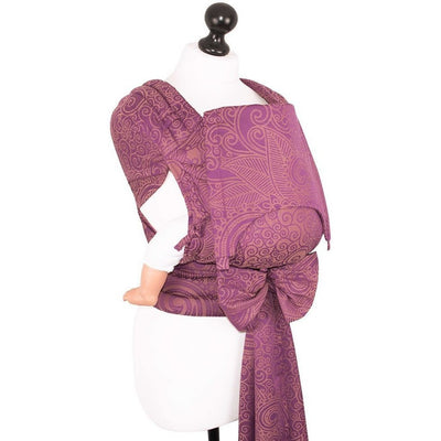 Fidella Fly Tai - MeiTai babycarrier Limited Edition Masala Mauve (Baby Size - From Birth), , Mei Tai, Fidella, Carry Them Close  - 9