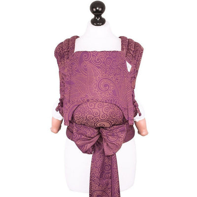 Fidella Fly Tai - MeiTai babycarrier Limited Edition Masala Mauve (Baby Size - From Birth), , Mei Tai, Fidella, Carry Them Close  - 10