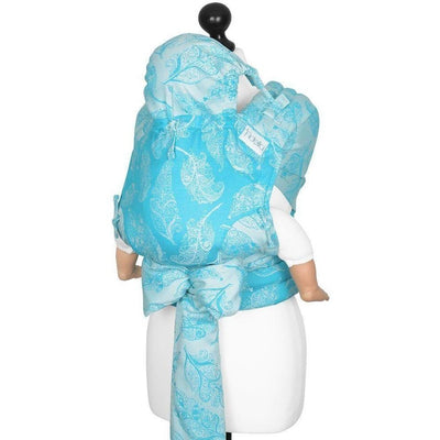 Fidella Fly Tai - MeiTai babycarrier Feather Rain - scuba blue (Baby +) - Meh Dai - Fidella - Afterpay - Zippay Carry Them Close