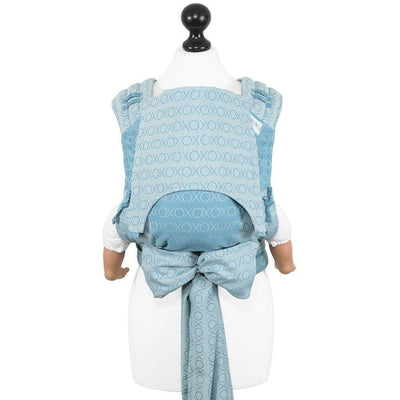 Fidella Fly Tai - MeiTai babycarrier Limited Edition Hugs and Kisses - blue heaven (Baby Size - From Birth) - Meh Dai - Fidella - Afterpay - Zippay Carry Them Close