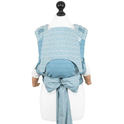 Fidella Fly Tai - MeiTai babycarrier Limited Edition Hugs and Kisses - blue heaven (New Size - From 4months) ***Pre-Order*** - Meh Dai - Fidella - Afterpay - Zippay Carry Them Close