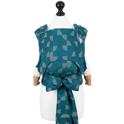 Fidella Fly Tai - MeiTai babycarrier Kaleidoscope - Ocean Teal (Baby Size - From Birth) - Meh Dai - Fidella - Afterpay - Zippay Carry Them Close