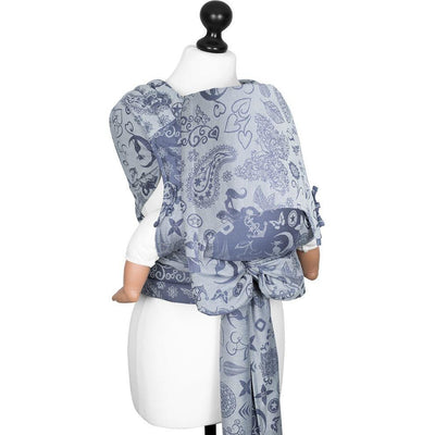 Fidella Fly Tai - MeiTai babycarrier Medley Serenity Blue (Baby Size - From Birth) - Meh Dai - Fidella - Afterpay - Zippay Carry Them Close
