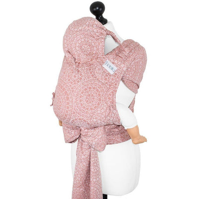 Fidella Fly Tai - MeiTai babycarrier Limited Edition Mosaic Soft Coral (Baby Size - From Birth) - Meh Dai - Fidella - Afterpay - Zippay Carry Them Close