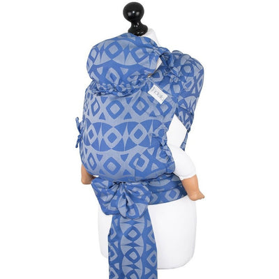 Fidella Fly Tai - MeiTai babycarrier Limited Edition Night Owl Blue (Baby Size - From Birth), , Mei Tai, Fidella, Carry Them Close  - 6