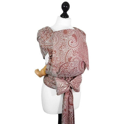 Fidella Fly Tai - MeiTai babycarrier Masala Henna bamboo (Baby Size from Birth) - Meh Dai - Fidella - Afterpay - Zippay Carry Them Close