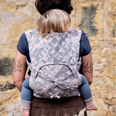 Fidella Fly Tai - MeiTai babycarrier Kaleidoscope Sand (Baby Size - From Birth) - Meh Dai - Fidella - Afterpay - Zippay Carry Them Close