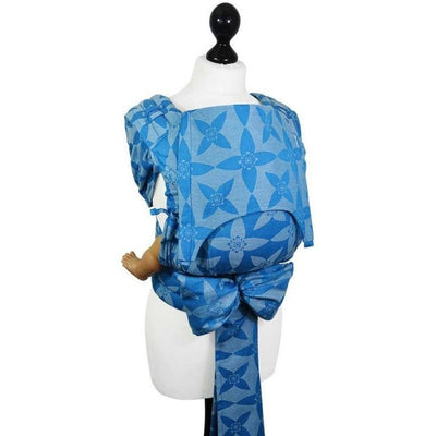 Fidella Fly Tai - MeiTai babycarrier Blossom Blue (Baby Size from Birth) - Meh Dai - Fidella - Afterpay - Zippay Carry Them Close