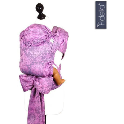 Fidella Fly Tai - MeiTai babycarrier Iced Butterfly Violet (Baby Size - From birth) - Meh Dai - Fidella - Afterpay - Zippay Carry Them Close