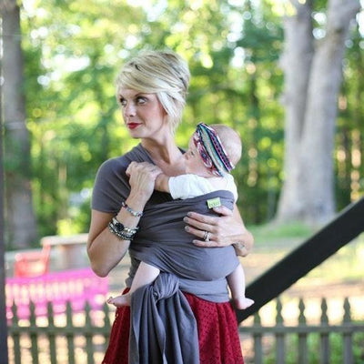 Boba Stretchy Wrap - Dark Grey Organic - Stretchy Wrap - Boba - Afterpay - Zippay Carry Them Close