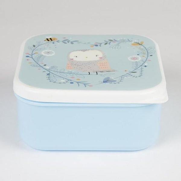 Sass & Belle Snack Box - Woodland Owl Blue