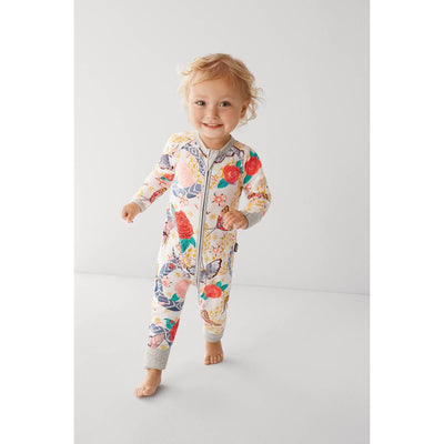 Bonds - Zip Wondersuit - ABBYS ROSE GARDEN (grey Trim)