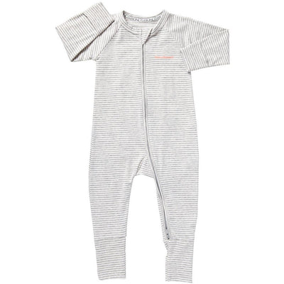 Bonds - Zip Wondersuit - GREY MARLE STRIPE