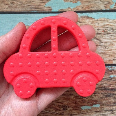 Silicone Teething Car - Pink - Teething Toy - Nature Bubz - Afterpay - Zippay Carry Them Close