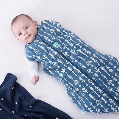 ErgoPouch - Ergo Cocoon Winter Swaddle & Sleeping Bag (2.5TOG) - Midnight Arrows - Swaddle - ErgoCocoon - Afterpay - Zippay Carry Them Close