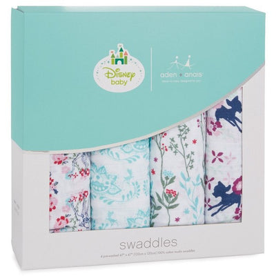 Aden and Anais - Classic Swaddles Disney - Baby Bambi (4 Pack) - swaddle - Aden and Anais - Afterpay - Zippay Carry Them Close