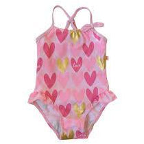 Plum - Swimmers Pink Hearts Swim Suit