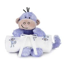 Aden and Anais - Blankets & Plush Toy - Jungle Jam Monkey