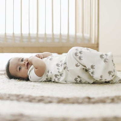 Ergobaby Swaddler and Sleeping Bag (Set) - Elephant (Newborn - 9mnths) - swaddle - Ergobaby - Afterpay - Zippay Carry Them Close