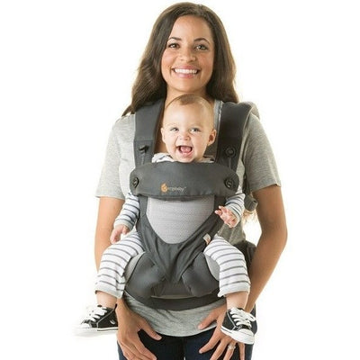 Ergobaby 360 Carrier - Cool Air Carbon Grey - Baby Carrier - Ergobaby - Afterpay - Zippay Carry Them Close