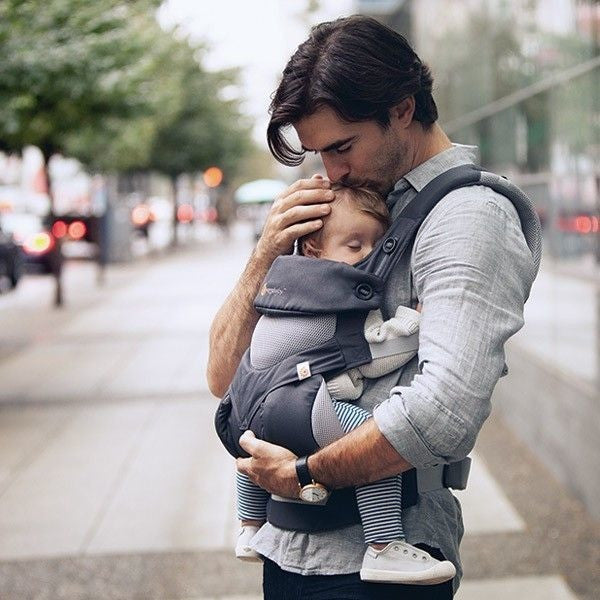 Ergobaby Performance Collection 360 Carrier - 'Cool Air' Carbon Grey, , Baby Carrier, Ergobaby, Carry Them Close  - 1