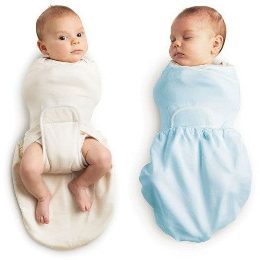 Ergobaby Swaddler - Blue + Natural 2 Pack, , swaddle, Ergobaby, Carry Them Close