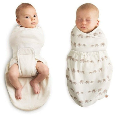Ergobaby Swaddler - Elephant + Natural 2 Pack - swaddle - Ergobaby - Afterpay - Zippay Carry Them Close