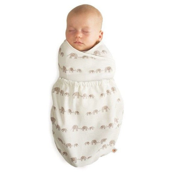 Ergobaby Swaddler - Elephant (NEW One Size), , swaddle, Ergobaby, Carry Them Close  - 1