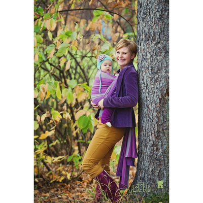 Little Frog Woven Wrap - Amethyst - Woven Wrap - Little Frog - Afterpay - Zippay Carry Them Close